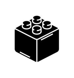constructor bricks icon vector image