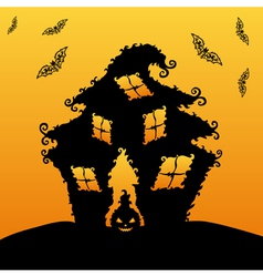 decorative haunted house vector image