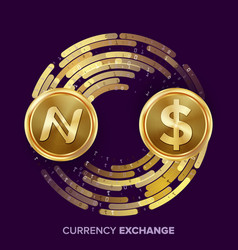 Digital currency money exchange namecoin vector