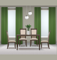 dining room interior vector image
