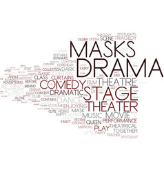 Drama word cloud concept vector