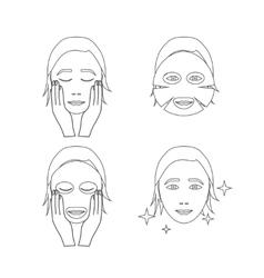 Facial Sheet Mask Outline vector
