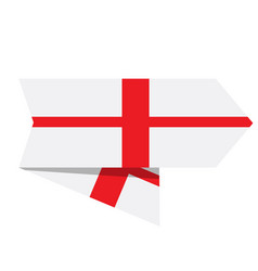 flag of england on a label vector image
