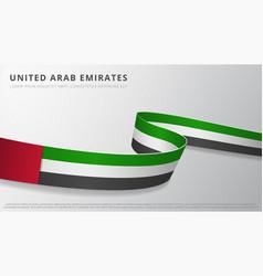 Flag united arab emirates realistic wavy vector