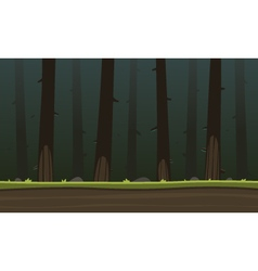 Forest Cartoon Game Background vector image