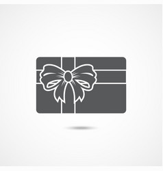 gift card icon vector image