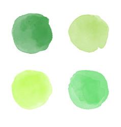 Green watercolor splash vector