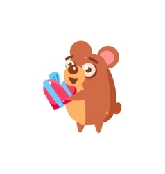 Hamster Party Animal Icon vector