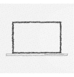 Hand drawn laptop design vector image