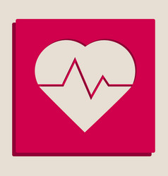 heartbeat sign grayscale vector image