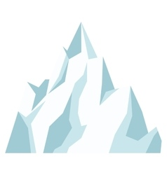 Ice mountain icon vector
