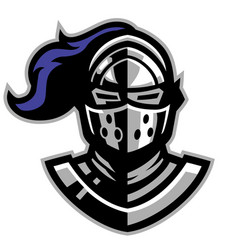 knight helmat mascot vector image