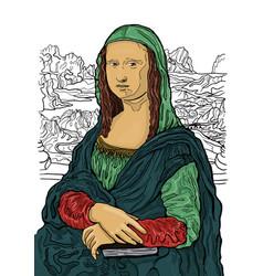 Leonardo da vincis painting mona lisa mona lisas vector