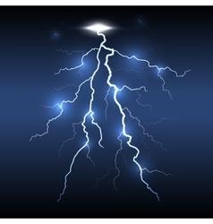 Lightning flash strike dark background vector