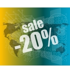 Management concept sale words on digital screen vector image