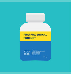 medical container for pharmaceutical products vector image