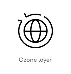 Outline ozone layer icon isolated black simple vector