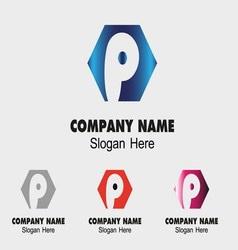 P alphabet logo letter P icon vector