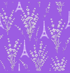 pattern with lavender flowers vector image