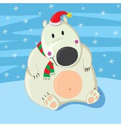 Polar Bear Christmas vector image