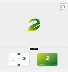 premium initial e nature leaf creative logo vector image