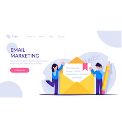 process writing a new letter email marketing vector image