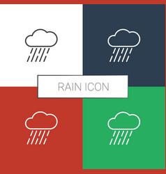 Rain icon white background vector