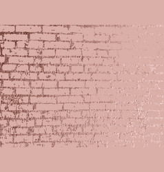 rose gold brick wall luxury gold background gold vector image