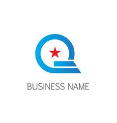 round line star company logo vector image