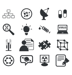 Science icon set 5 simple vector