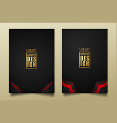 set cover design template with luxury and elegant vector image