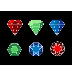 Set of gemstones vector image