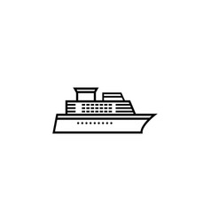 ship and cruise line icon navigation vector image