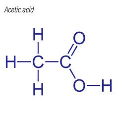 Skeletal formula acetic acid drug chemical vector