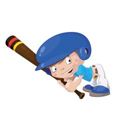 smile baseball boy vector image