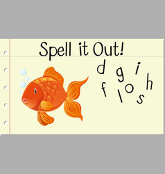 Spell it out goldfish vector