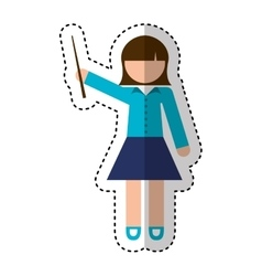 Teacher woman avatar character vector