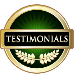 testimonials gold icon vector image