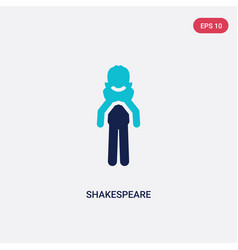 two color shakespeare icon from literature vector image
