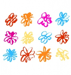 watercolour flowers vector image