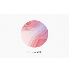 Wave logo Business Icon Pink logo Company logo vector image