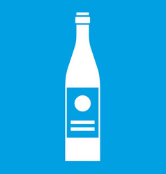 wine bottle icon white vector image