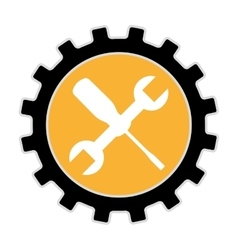wrench tool construction icon vector image