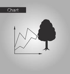 black and white style icon ecologic chart vector image