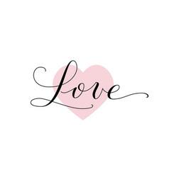 love word hand written custom calligraphy great vector image vector image
