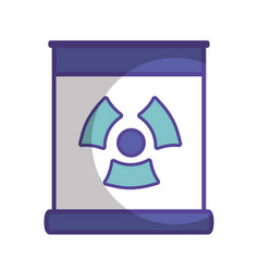 Poster with radiation symbol of danger vector