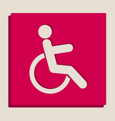 disabled sign grayscale vector image