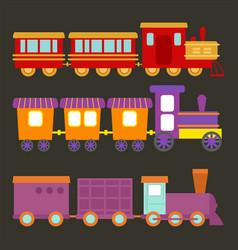 game gift kids train travel railroad vector image