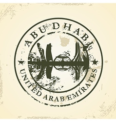 Grunge rubber stamp with Abu Dhabi UAE vector image