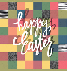 Happy easter greeting card mosaic seamless vector